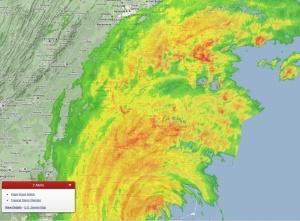 Stormen Irene på väg in över Arlington 2